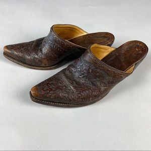 OLD GRINGO Beautiful Tooled Leather Mules